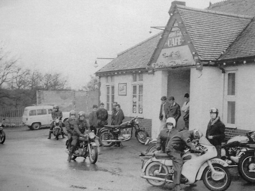 Johnsons cafe on the A20 just past Brands Hatch 1960's by Hawk900