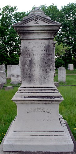 Grave Marker of Lt. Marvin Wait