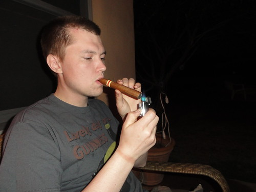 Rounded of the evening with a cigarr