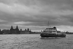 Mersey Ferry (Chris Noble Photography) Tags: england seascape water monochrome ferry liverpool landscape boat misc transport places manmade shipping riverscene photogenre
