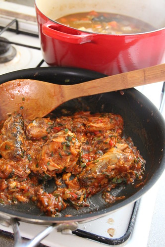 Sardines in tomatoe sauce and beef stew