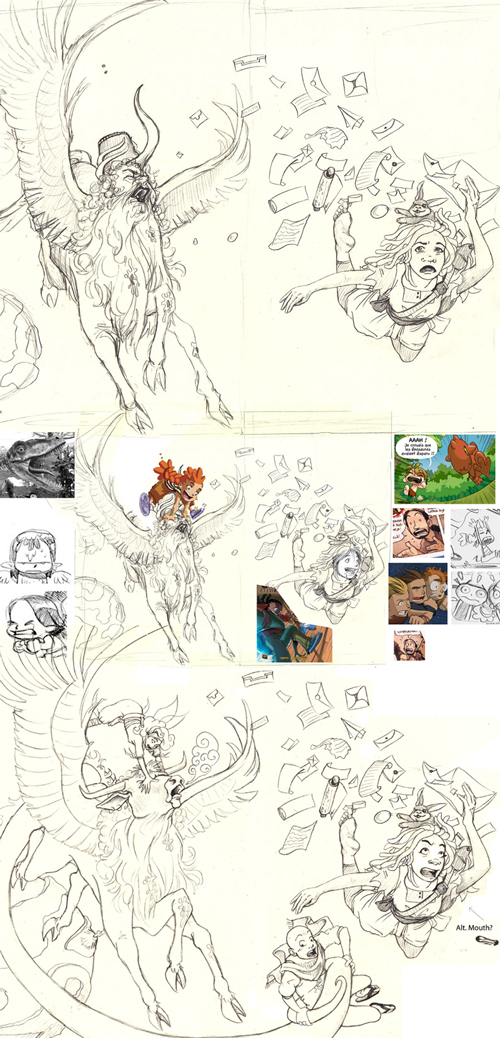 Process of sketching the cover for Do: Book of Letters