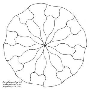 Mandala template #4