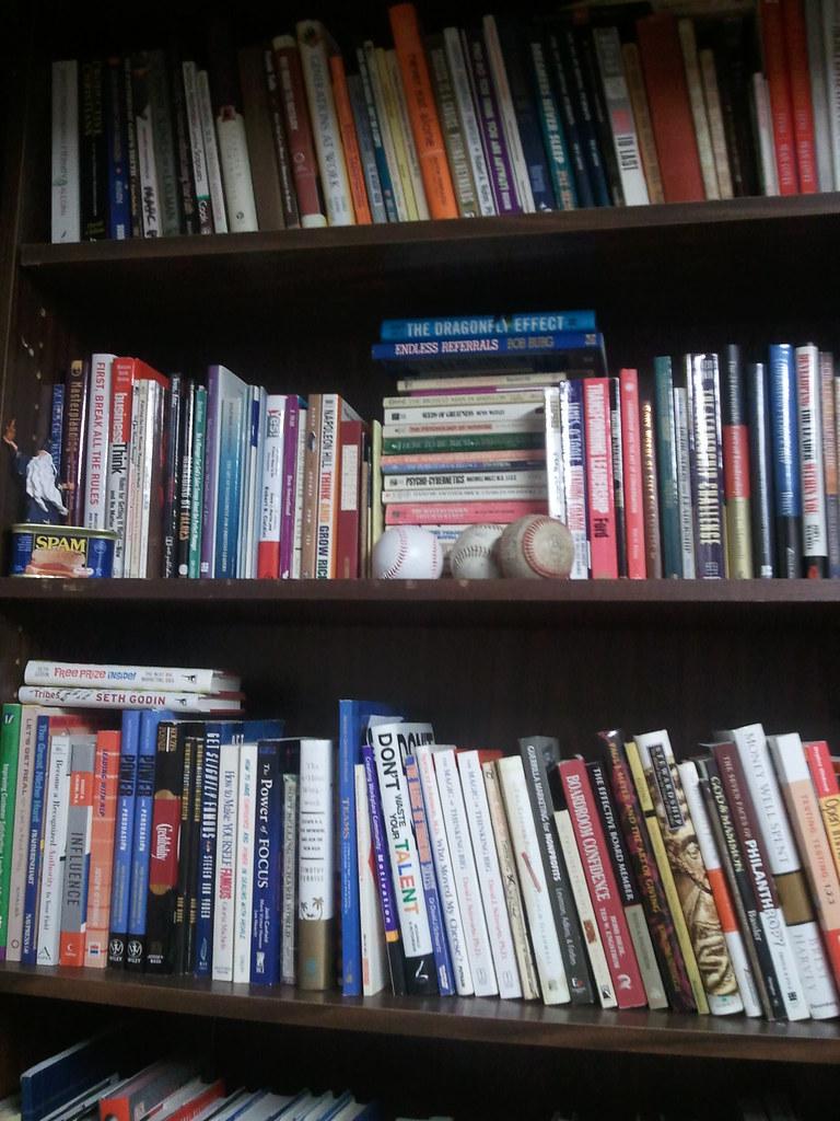 Books on Marc's books shelves - Click here for bigger image