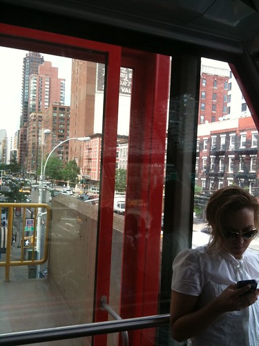 Before the Roosevelt Island Tram leaves Manhattan