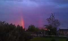 Geeze my neighbor got the gold again  LOL (off my front porch) Tags: cameraphone camera high rainbow phone desert nevada rainbows droid thunderboldt htcthunderboldt