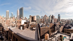 Office view ~175° (scottdunn) Tags: nyc newyorkcity panorama newyork cityscape manhattan pano esb empirestatebuilding nodalninjia