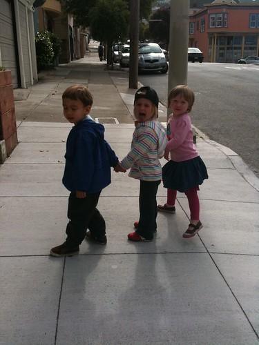 Boone, maisie, & Dottie Pre music class