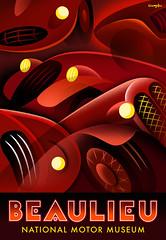 Beaulieu Motor Museum Poster (Crampton Illustration) Tags: automotive beaulieu motoring motorcars carposter
