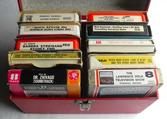 1960s & 1970s Vintage 8 Track Cassette Tapes In Carrying Case (Christian Montone) Tags: music tape 1960s 1970s cassette 8track casettes carryingcase