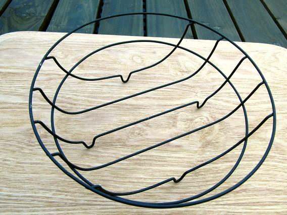 プラスマイナスゼロ 空のワイヤーバスケット