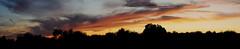 Panoramica Puesta de Sol (Rosa Barcel) Tags: espaa sol de badajoz panoramica nubes puesta extremadura lacara cordobilla