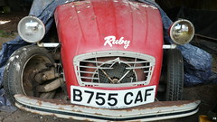 Poor Ruby (C.Elston) Tags: blue red white forsale citroen engine hidden help devon exeter repair covered 2cv parked ruby rotten dolly 602 2cv6 wel373x d670uan b755caf