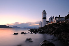 Gloaming at the Cloch Lighthouse, Gourock (iancowe) Tags: uk sunset lighthouse river evening scotland clyde greenock long exposure lighthouses dusk thomas scottish smith stevenson trust gourock strathclyde firth gloaming dunoon cloch clochlighthouse rovert lighthousetrek wbnawgbsct