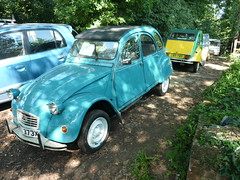 2cv Special WEL373X & C519PMY Exeter (C.Elston) Tags: blue red white forsale citroen engine hidden help devon exeter repair covered 2cv parked ruby rotten dolly 602 2cv6 wel373x d670uan b755caf