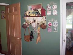 Former Pepto room. (grandmaper) Tags: china leather shoe junk antique purse recycle reuse repurpose cupsaucer