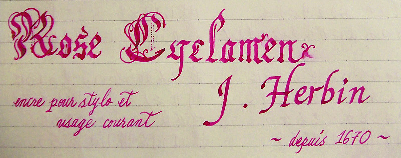 J. Herbin ~ Rose Cyclamen