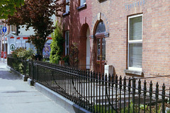 film (La fille renne) Tags: street ireland houses red dublin film analog 35mm pretty canonae1program irlande 50mmf18 fujisuperiaxtra400
