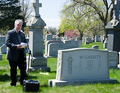 Gerry McHale at the McGarrity  Graveside