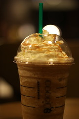 Caramel Frappe from Starbucks (muazrh99) Tags: food blur beautiful canon photography eos 50mm bokeh awesome caramel starbucks dslr frappucino frappe 50d canonef50mmf18ii canoneos50d