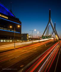 Zachim Bridge Lights (NandorSzotak) Tags: city bridge boston slow olympus shutter lighttrails zachim