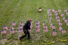 counting (local paparazzi (isthmusportrait.com)) Tags: blue red usa white motion color detail green field grass hat dedication yellow america canon outdoors eos iso200 is pod memorial war pattern forsale thankyou display zoom decorative flag awesome unitedstatesofamerica photojournalism kitlens clarity honor wave ground flags line dandelion jeans dirt american editorial usm sweatshirt 60mm 5000 veteran waving redwhiteandblue selling fundraiser ef journalism memorialday freelance zooming 2014 sharpness greenandyellow f4l 24105mmf4lisusm 24105mm zoomedin richlandcountywisconsin lostsoldier canon5dmarkii richlandcenterwi localpaparazzi redskyrocketman lopaps isthmusportrait richlandcountyveteransmemorial