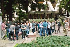 Flickr team celebrating DOTD (chloe & ivan) Tags: sanfrancisco ca yahoo flickrhq dayofthedonut