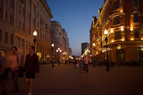 Evening at Moscow - Arbat street/  ©  Still ePsiLoN