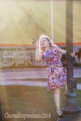 Into the Light of Sunset (livininfrostytown) Tags: sunset sunlight butterfly daughter child girl pink blonde ogden utha 2016 charmedimpressions