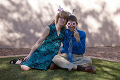 20160327_Easter_0013.jpg (Ryan and Shannon Gutenkunst) Tags: easter ryangutenkunst shannongutenkunst backyard bunnies buttondownshirt dress dressup family grass portrait smiles tie tucson az usa
