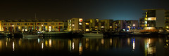Modern Living (Ged Slaughter Photography) Tags: modern modernliving bristol harbourside apartments night twilight panorama pano gedslaughter boat boats water waterscape yacht reflection reflections