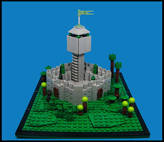 Orc Outpost (Karf Oohlu) Tags: lego moc vignette orc orcs microfig microscale fort outpost tower watchtower landscape