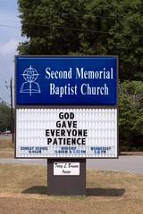(~JENO~) Tags: usa signs sign georgia nikon raw baptist baptistchurch perryga houstoncounty d5000 photoscape nikond5000 ~jenophotos~