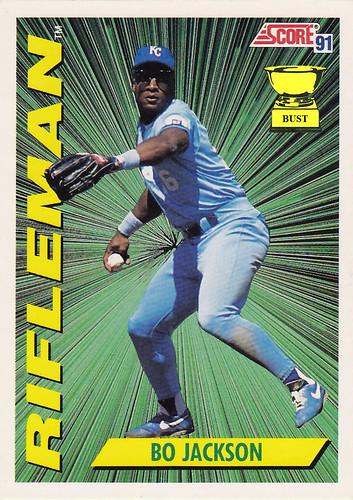 Baseball Card Bust Bo Jackson 1991 Score Rifleman