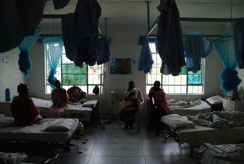 The maternity wards where the genital scarring from the cut can obstruct a birth, and inflict even further pain. It is a little dark, but the women weren't eager to be individually photographed, which is partly why I chose to share this photo in which they're not identifiable.