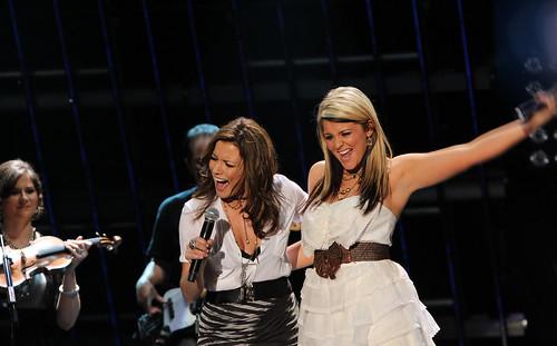 Lauren Alaina with Martina McBride - CMA Fest 2011 - LP Field - Nashville, Tennessee