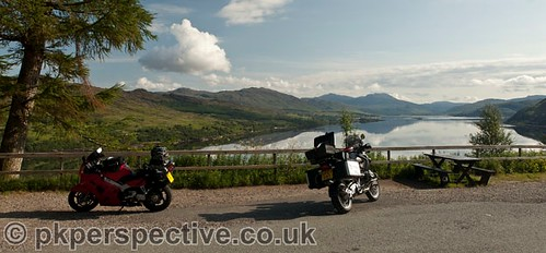 Our 2 bikes at one of the major viewpoints on route