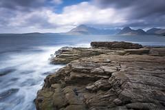 Elgol, Scotland (Jokull) Tags: longexposure sea mountains skye clouds landscape coast scotland highlands rocks cokin 2011 canoneos5d lightstalking bwnd3 plljkull