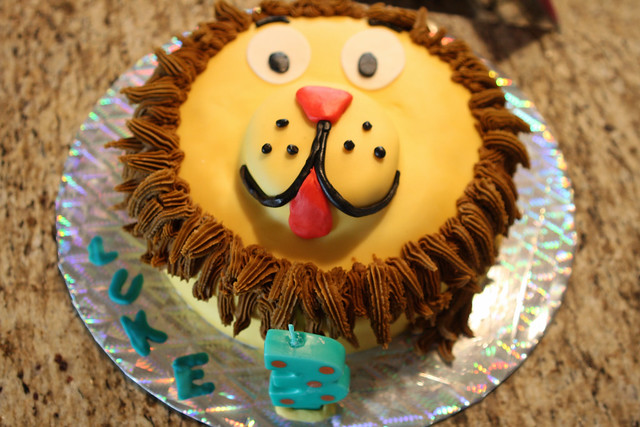 Luke's 3rd Birthday Party Lion Cake
