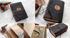 Adventurous Words (Bibliographica) Tags: travel brown leather vintage notebook book sketch recycled handmade diary rustic journal craft sketchbook thoughts worn poet writer write draw etsy bookbinding olde bibliophile reclaimed teastained bookbindingteam bibliographica