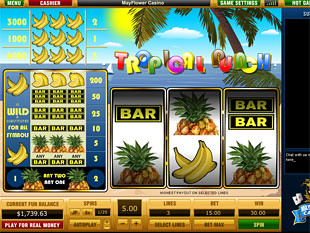 Tropical Punch 3 Lines Slots - Play this Video Slot Online