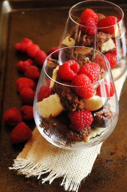 Chocolate, Milano and Raspberry Parfaits