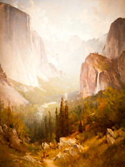 The Old Life (Thomas Hawk) Tags: california usa painting unitedstates unitedstatesofamerica yosemite stanford paloalto southbay yosemitevalley stanforduniversity cantorartscenter thomashill thomasehill
