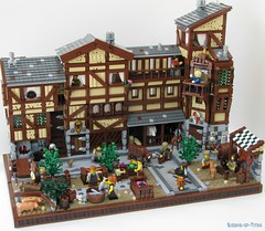 The Market District 2 (Sirens-Of-Titan) Tags: house castle town pub lego market fantasy tavern merchant