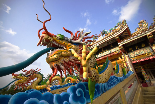 Dragon at Tha Reua Chinese Shrine, Phuket