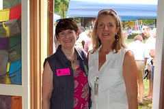 Pip Shafer and board member Karen Thompson