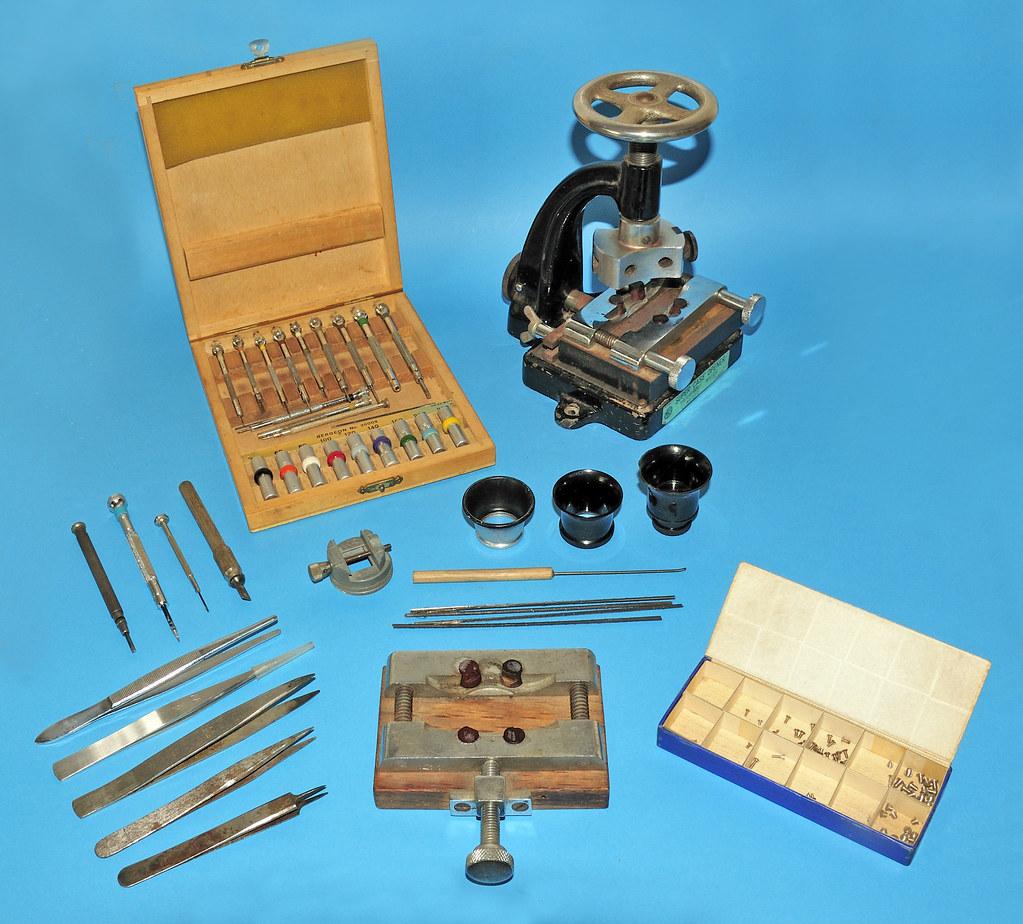 Watch maker's tool kit