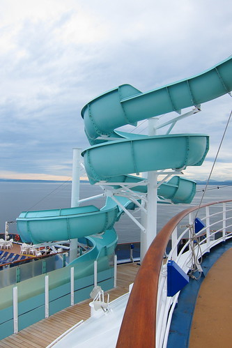 Waterslide by intent but a bobsled track on Alaska cruises...