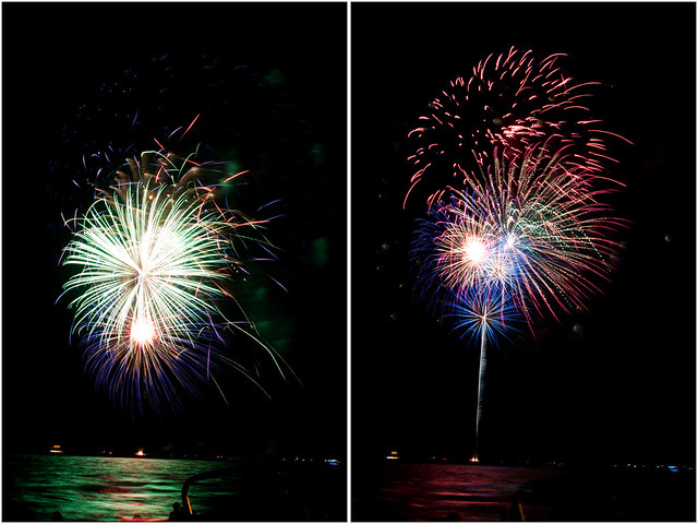 July 4th fireworks diptych 13