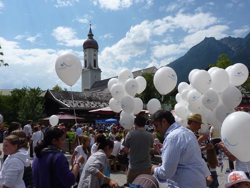 Garmisch-Partenkirchen am Tag der Entscheidung - Olympia 2018